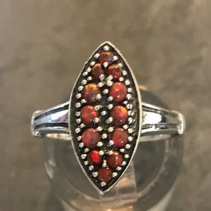 Stamped 6 Jewelry - Natural Red Opal Ring .925 Stamped S 6